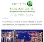 Progress with Purpose Monthly - November 2016